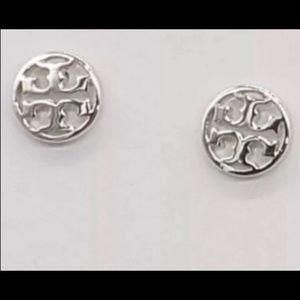 Silver Tory Burch Earring